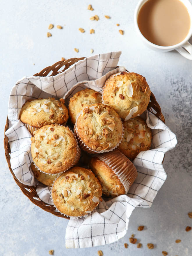 My family loves these loaded up Banana Crunch Muffins