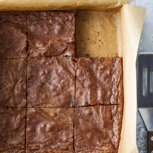Classic rich and fudgy homemade brownies