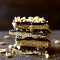 Easy & delicious Chocolate Peanut Butter Bars | completelydelicious.com