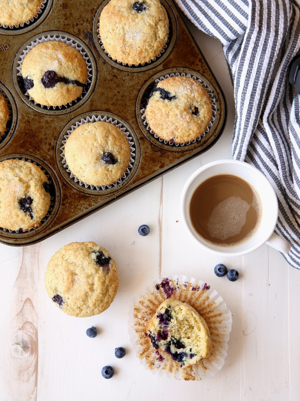 Basic Blueberry Muffins | completelydelicious.com