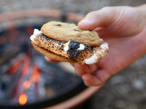 Chocolate Chip Cookie S'mores from completelydelicious.com