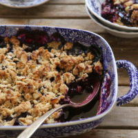 Blueberry Crisp from completelydelicious.com