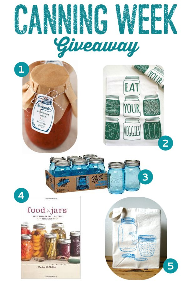Canning Week Giveaway! from completelydelicious.com