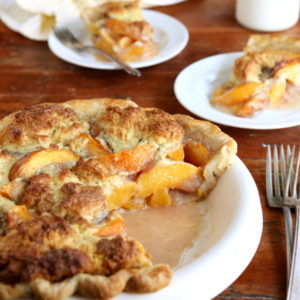 Peach Cobbler Pie from completelydelicious.com