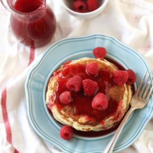 Spiced Raspberry Syrup by completelydelicious.com