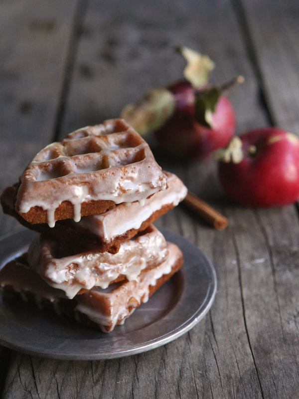 Apple Fritter Waffle Doughnuts from completelydelicious.com