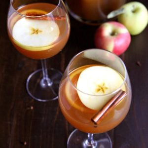 Spiced Apple Cider Sangria | completelydelicious.com