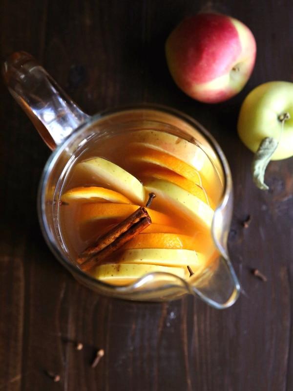 Spiced Apple Cider Sangria | completelydelicious.com