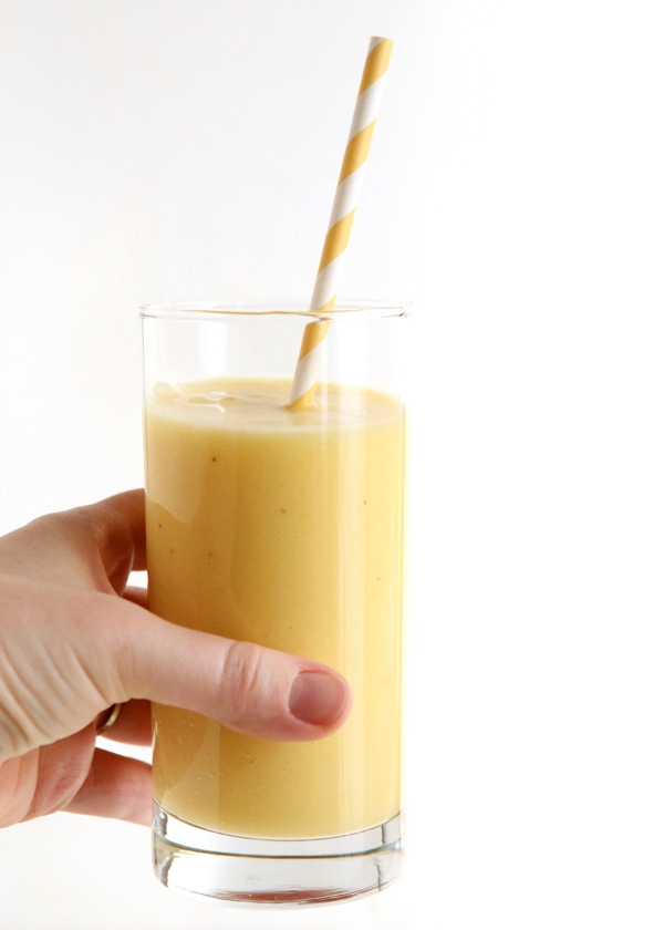 Mango Pina Colada Smoothie | completelydelicious.com
