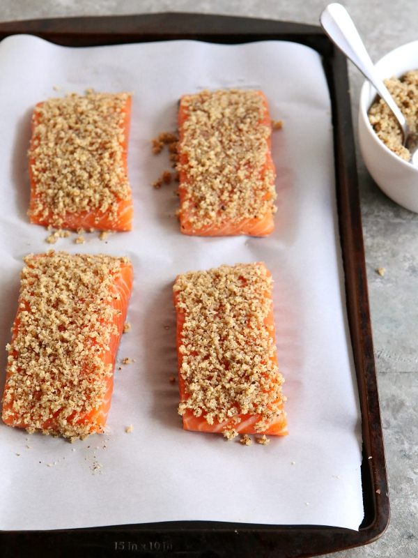 Hazelnut-Crusted Salmon - Completely Delicious