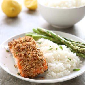 Hazelnut-Crusted Salmon | completelydelicious.com
