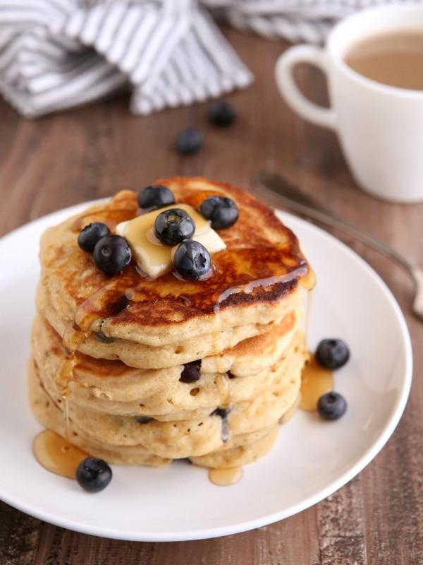 Blueberry Buttermilk Pancakes | completelydelicious.com