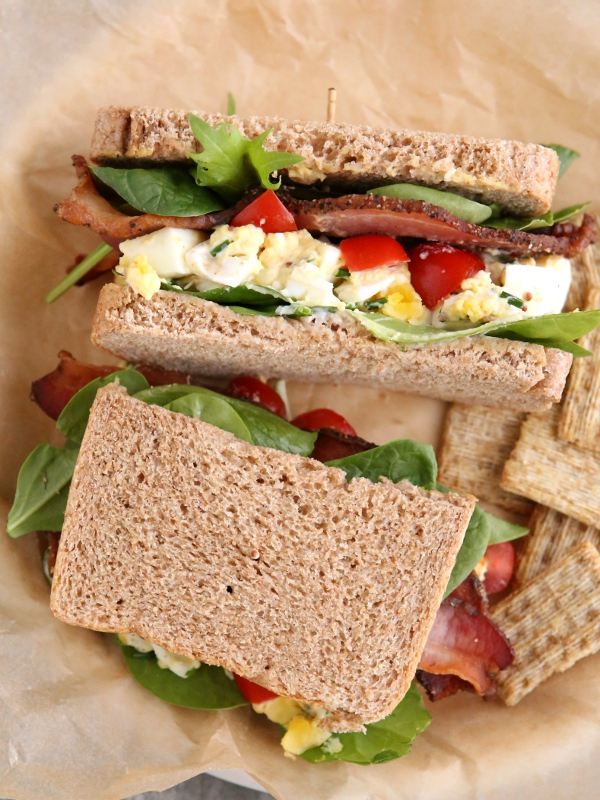 BLT Egg Salad Sandwiches - Completely Delicious