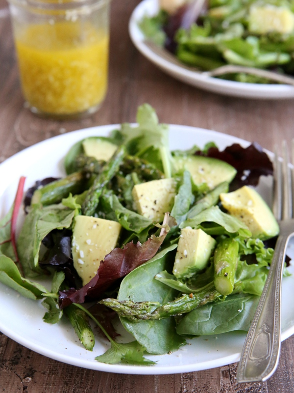 Roasted Asparagus and Avocado Salad with Lemon-Parmesan Vinaigrette ...