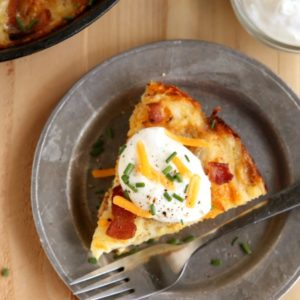 Cheesy Bacon Hash Brown Pie | completelydelicious.com