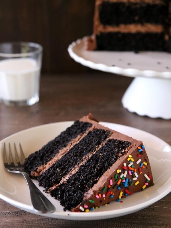 Chocolate Fudge Layer Cake Completely Delicious