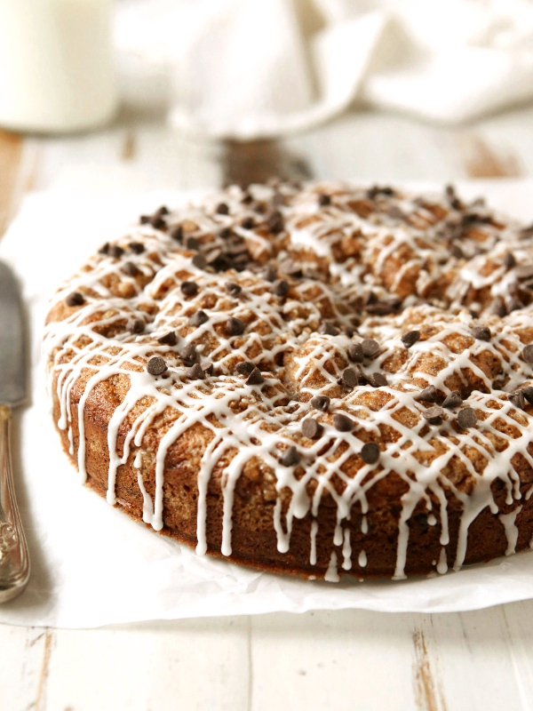 Chocolate Chip Coffee Cake with Brown Butter Streusel - Completely ...