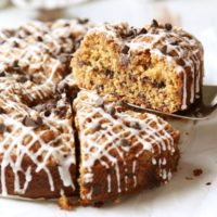 Chocolate Chip Coffee Cake with Brown Butter Streusel | completelydelicious.com