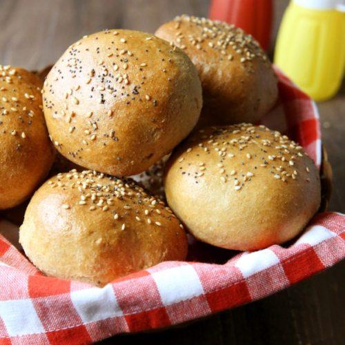 Whole Wheat Brioche Buns | completelydelicious.com