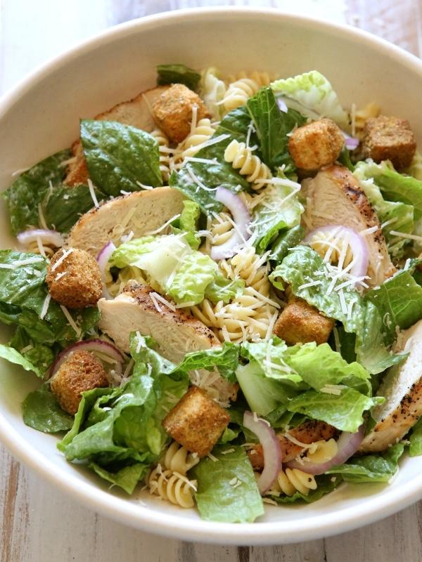 Chicken Caesar Pasta Salad from completelydelicious.com