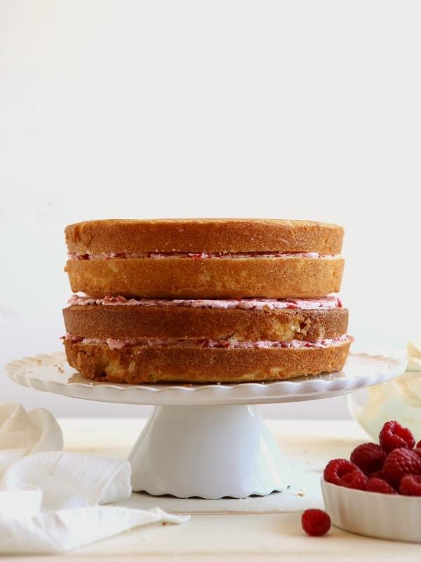 Raspberry White Chocolate Cake | completelydelicious.com