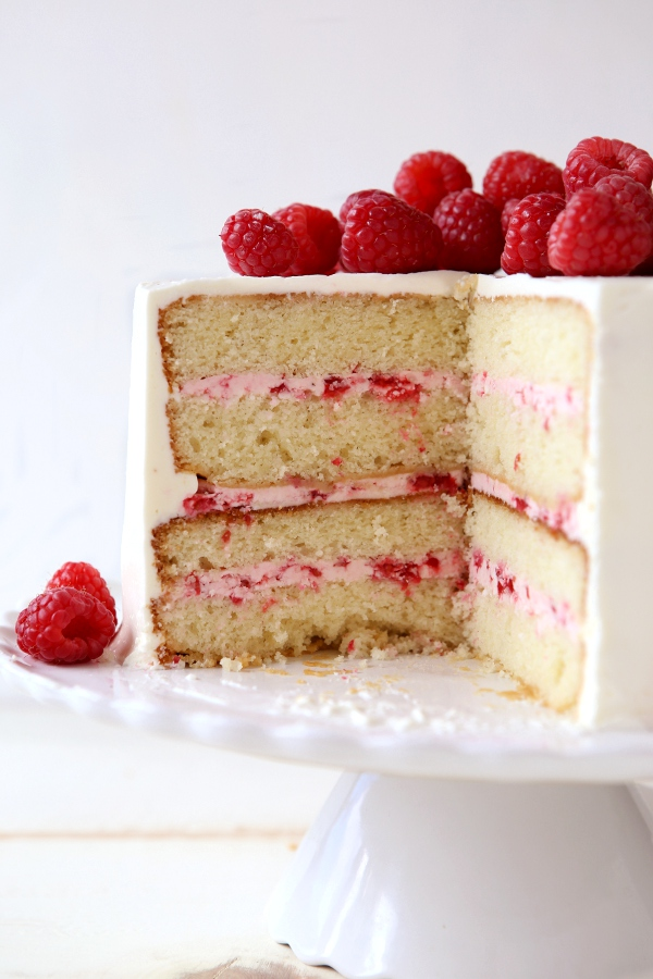 Lemon Cake With Raspberry Mousse Frosting