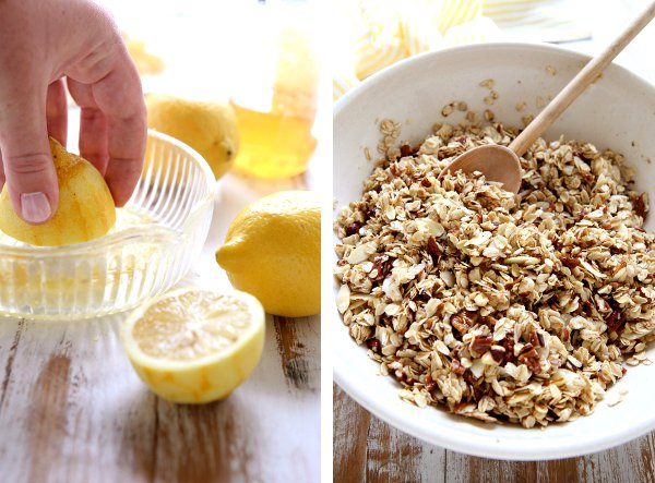 Nutty Lemon Granola | completelydelicious.com