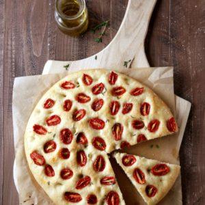 Roasted Tomato Focaccia Bread | completelydelicious.com