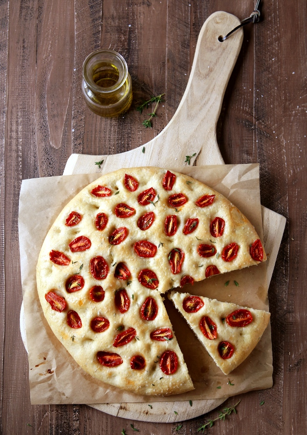Roasted Tomato Focaccia Bread | completelydelicious.com