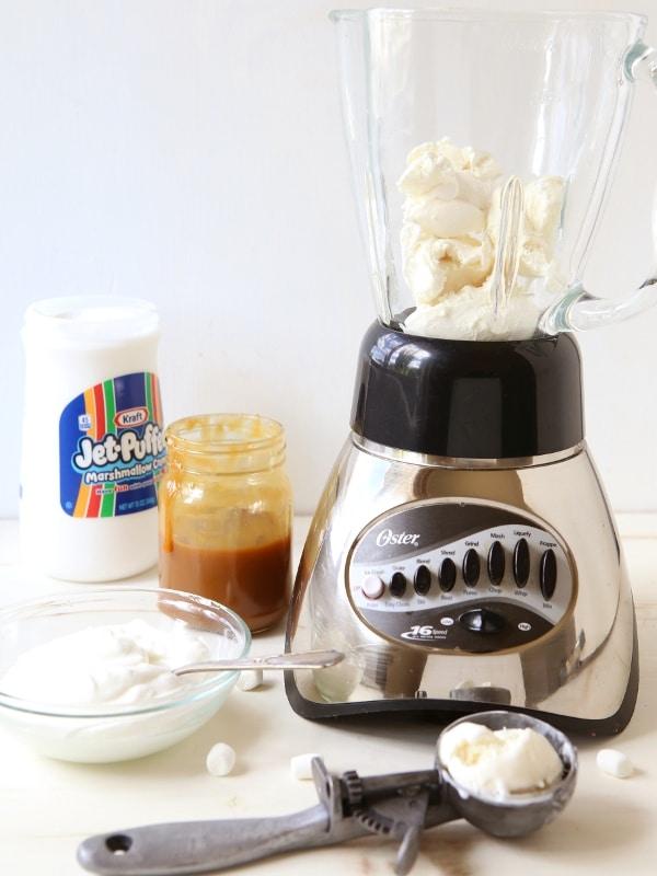 Caramel Marshmallow Milkshake | completelydelicious.com