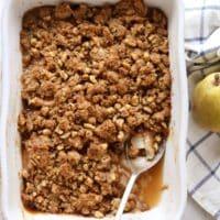 Pear Walnut Crisp   completelydelicious.com