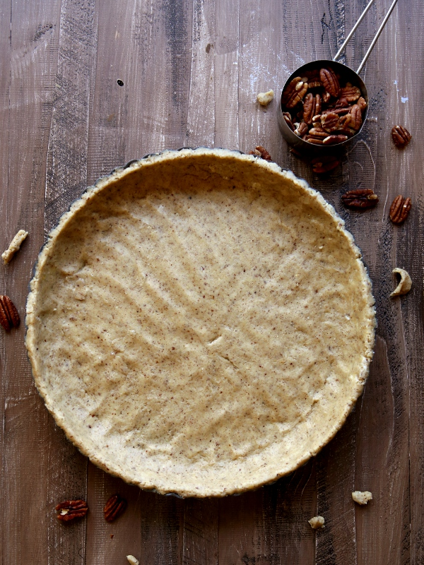 Mascarpone and Cranberry Tart with Pecan Crust | completelydelicious.com