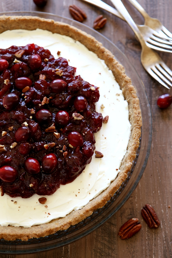 Mascarpone and Cranberry Tart with Pecan Crust | completelydelicious ...