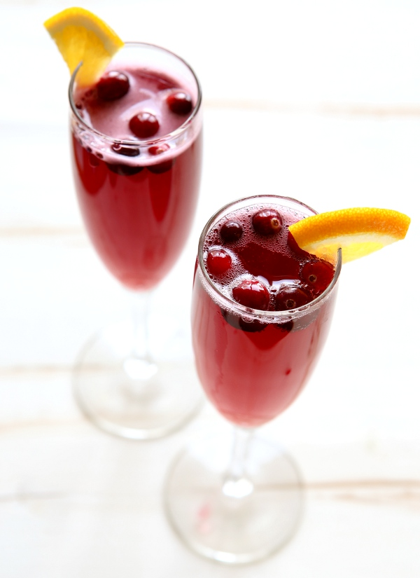 Cranberry Orange Mimosas | completelydelicious.com