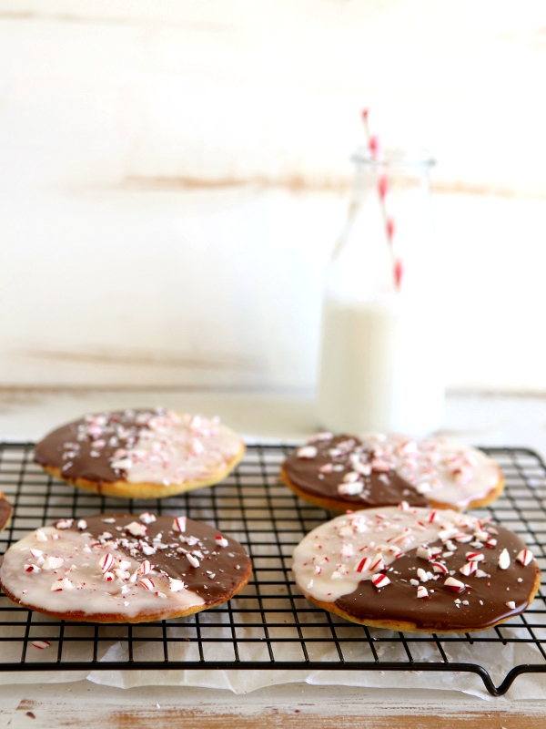 Peppermint Black & White Cookies | completelydelicious.com
