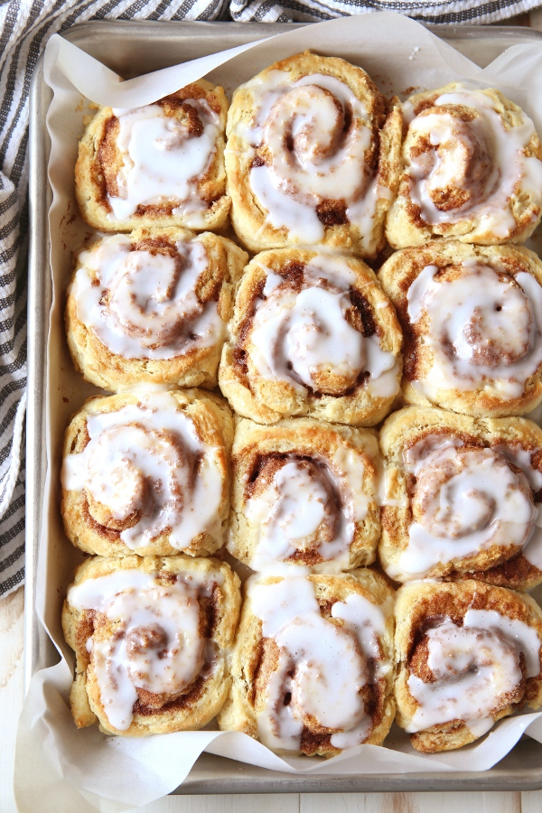 Cinnamon Roll Biscuits | completelydelicious.com