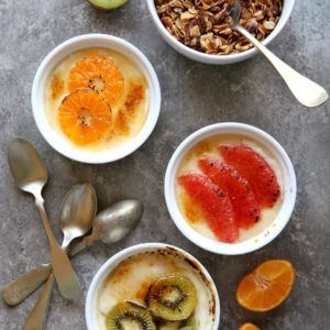 Yogurt Brûlée with Winter Fruit   completelydelicious.com