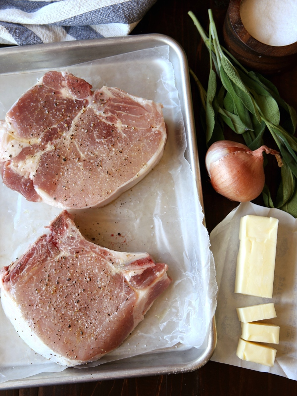 Pork Chops with Sage Butter Sauce | completelydelicious.com