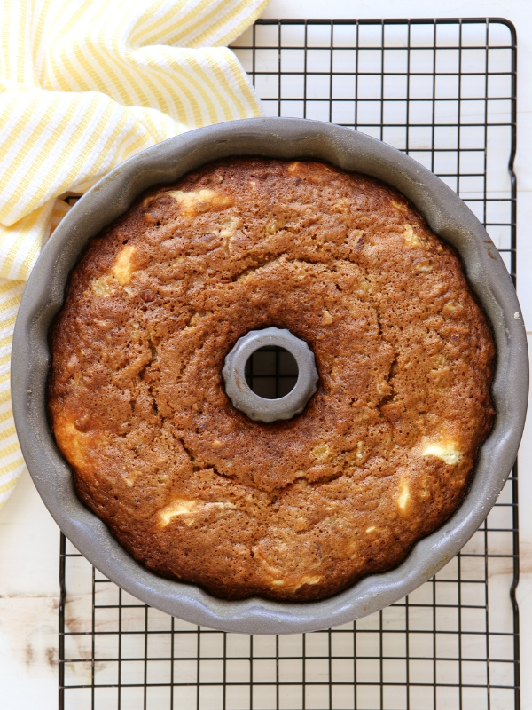 Cheesecake-Swirled Carrot Bundt Cake | completelydelicious.com