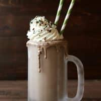 Boozy Creme de Menthe Milkshake   completelydelicious.com