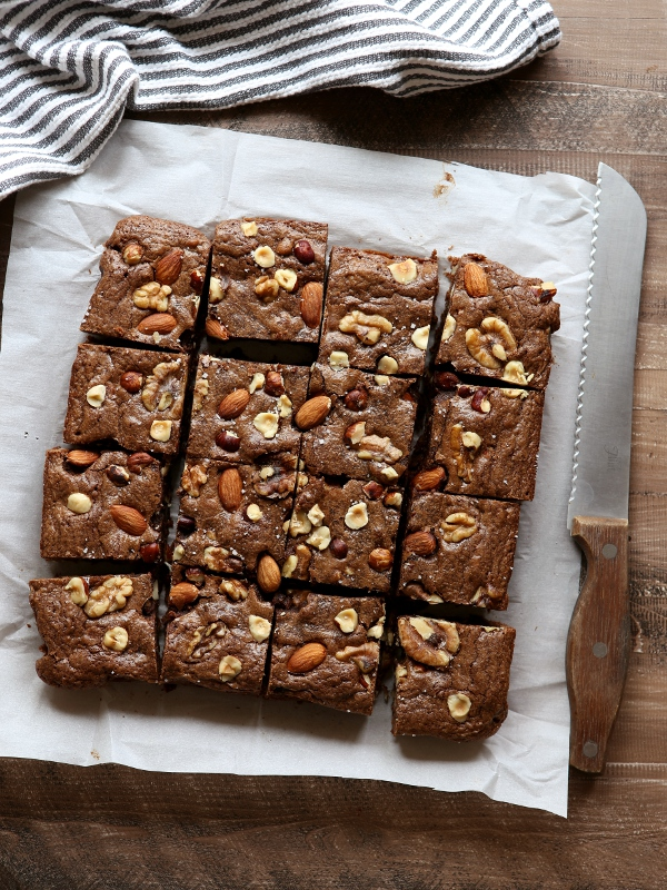 Nutty Fudge Brownies | completelydelicious.com