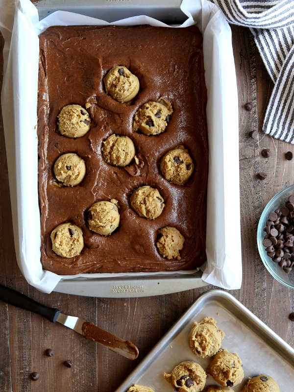 Chocolate Chip Cookie Brownies | completelydelicious.com