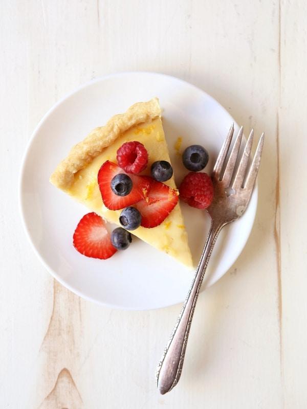 Lemon Berry Tart | completelydelicious.com