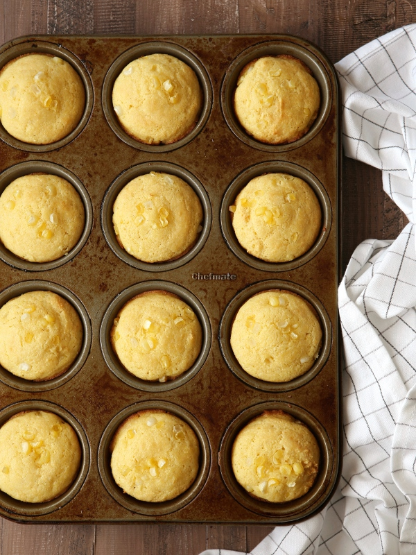 Corniest Corn Muffins from completelydelicious.com
