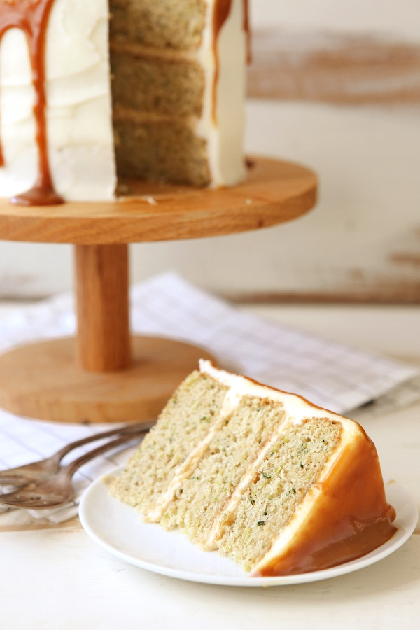 Zucchini Caramel Cake with Cream Cheese Frosting | completelydelicious ...