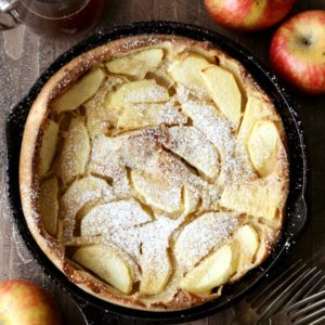 Apple Oven Pancake with Apple Cider Syrup | completelydelicious.com
