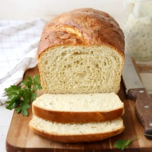 All flavors of buttermilk ranch dressing, in a light and tender sandwich bread! Great for sandwiches, your morning toast, and more! completelydelicious.com