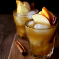 Apple Cider Old Fashioned Cocktail | completelydelicious.com