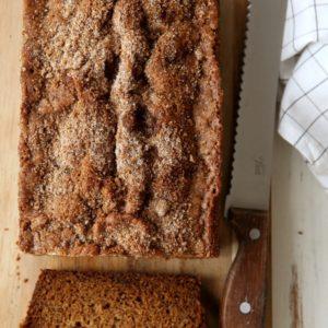 Banana Bread with Cinnamon Sugar Streusel | completelydelicious.com