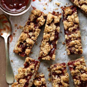 Oatmeal Jam Bars | completelydelicious.com